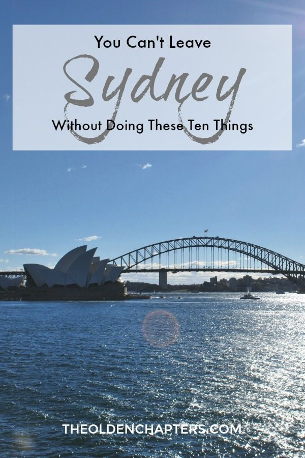The ultimate list of tourist attractions in Sydney, Australia. Pin for later