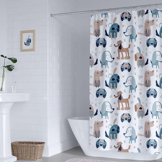 Pin On Shower Curtains, Boy Bathroom Shower Curtains