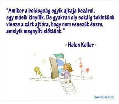 Helen Keller idézete a boldogságról. A kép forrása: SocialHealth