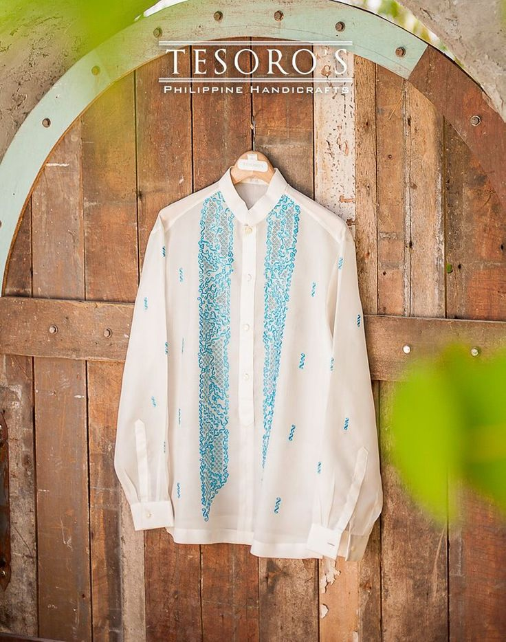 Confetti barong tagalog made from pina jusi custom-made barong. don't love the design but I likethe contrast stitching