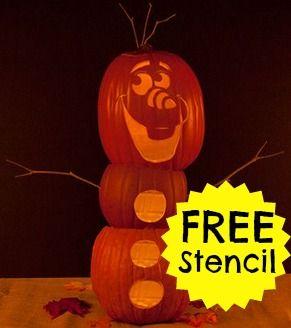 Free Frozen Pumpkin Stencil