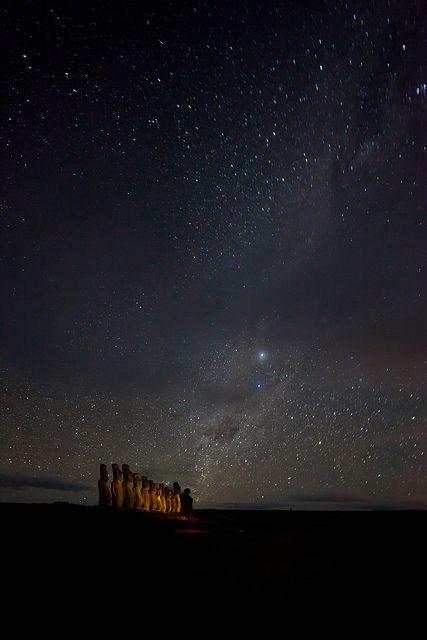 Isla de Pascua. Pais Chile al fin del mundo.