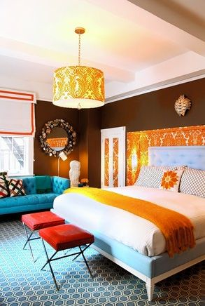Color lots of color.  pinned by www.auntbucky.com  #color #homeDecor