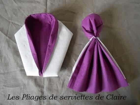 Fabuleux Les 25 meilleures idées de la catégorie Pliage serviette costume  GM61