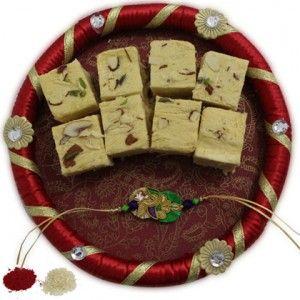 Special rakhi with pooja thali