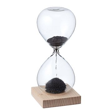 Look what I found at UncommonGoods: Magnetic Sand Hourglass for $20 #uncommongoods
