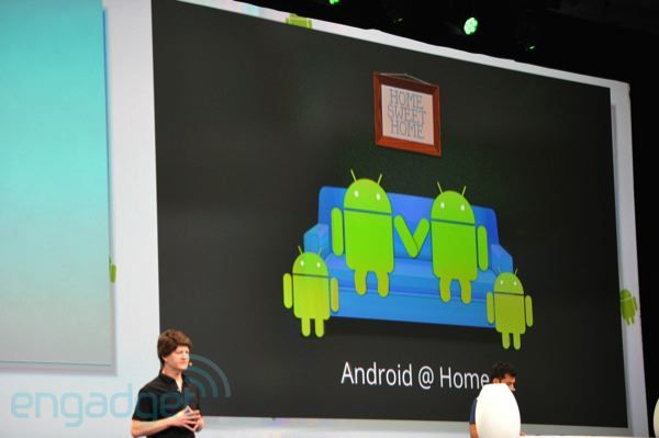 Google announces Android@Home framework for home automation  Remember to wire CAT6 cables to every room. Look into this after remodel. Z-wave, Insteon, raspberry pi/audrino system with voice command. Homeseer for software.