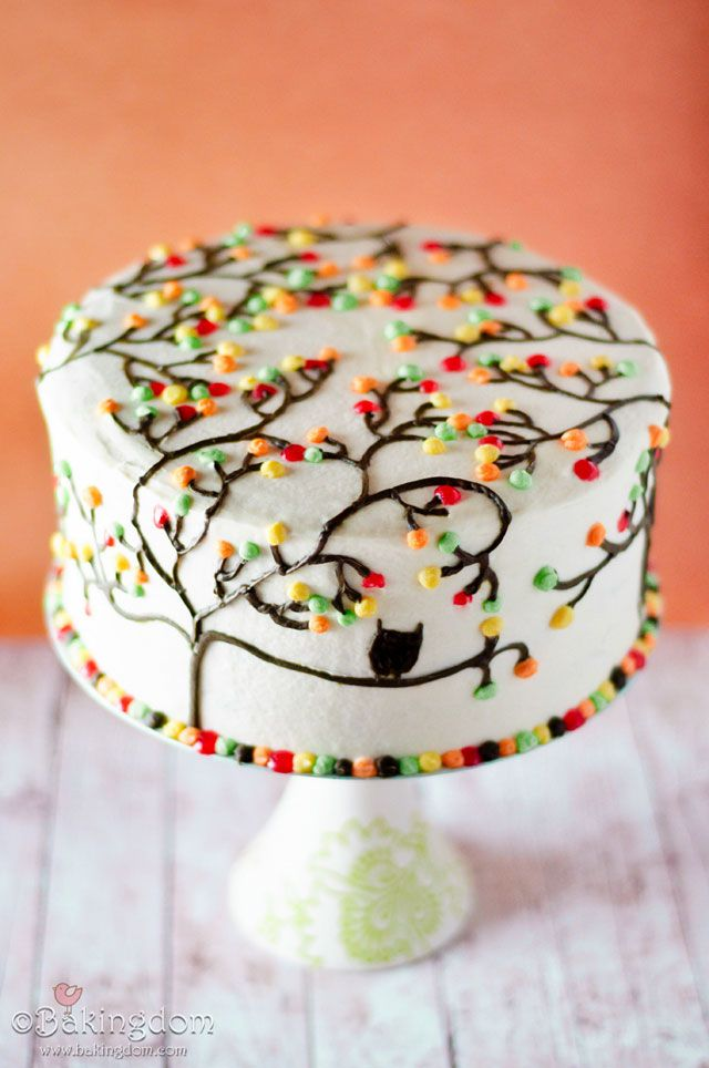 10 ideas about fall birthday cakes on pinterest fall for Autumn cake decoration