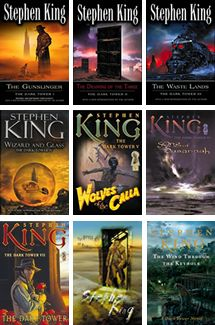 The Dark Tower series || Stephen King's Magnum Opus. He spent his entire career writing these amazing novels filled with countless references to his other works. A wonderful mix of genres: western, science fiction, fantasy, meta-literature, horror, you name it. Roland Deschain is the last of a long line of Clint Eastwood-esque gunslingers in a parallel post-apocalyptic old west world on a quest to defeat the Man in Black and the Crimson King and finally reach the Dark Tower.