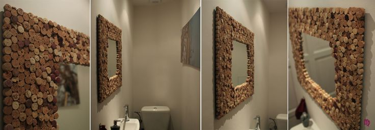 Mirror with frame corks from wine