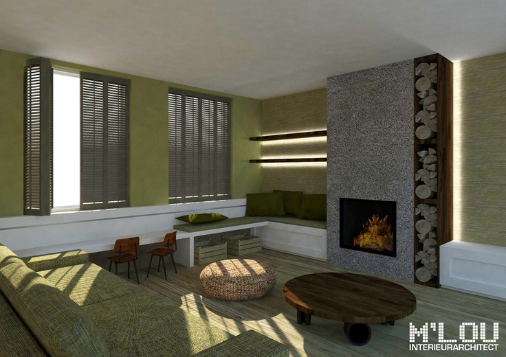 Project: Woonkamer te Hoofddorp (Noord-Holland) - impressie zithoek... M'lou interieurarchitect