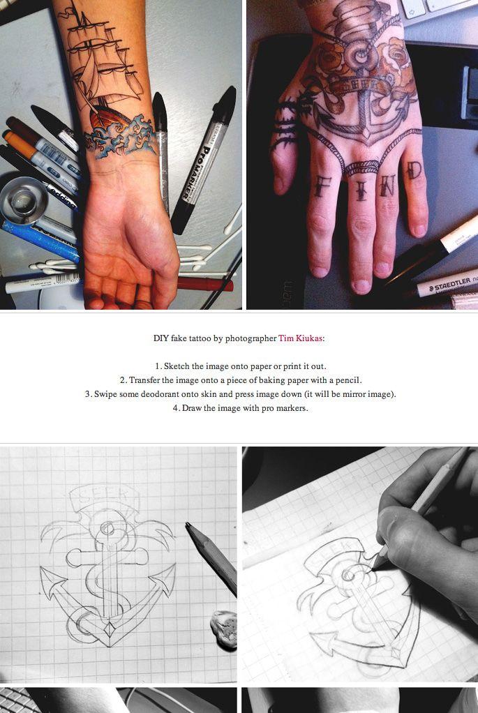 DIY fake tattoo