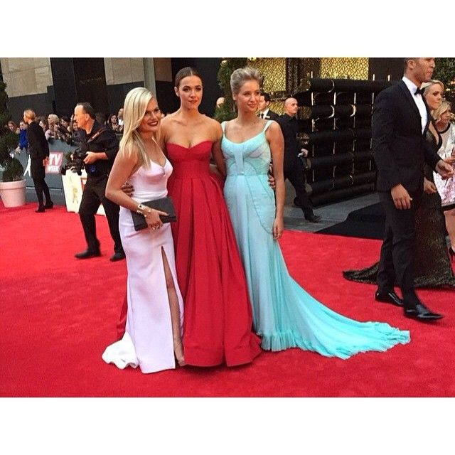 Home and Away girls/ @kassandraclementi in SPEARMINT @georgiayoungcouture  at the Tv Week Logies