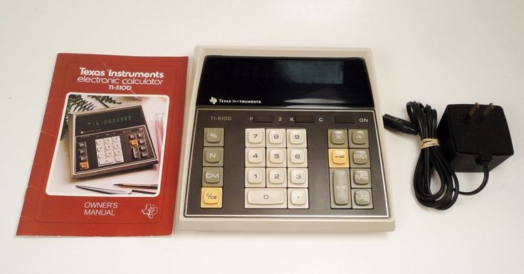 Vintage Texas Instrument Calculator TI-5100 Desk Top With Manual And AC Adapter #TexasInstruments http://stores.ebay.com/price-less-finds/Vintage-Collectible-/_i.html?_fsub=10901744017