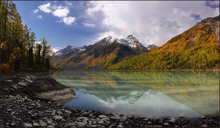 Божья благодать. Тишь да гладь, да ... Сентябрь 2010 #алтай #горы #горный алтай #кучерлинское озеро #кучерла #осень #аня графова Автор: Аня Графова