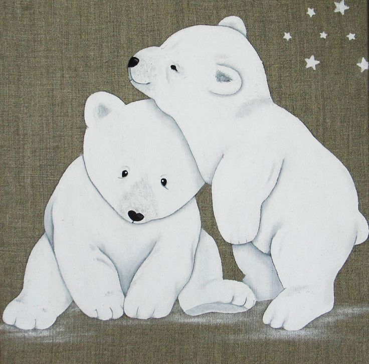 Tableau Duo Ours polaires