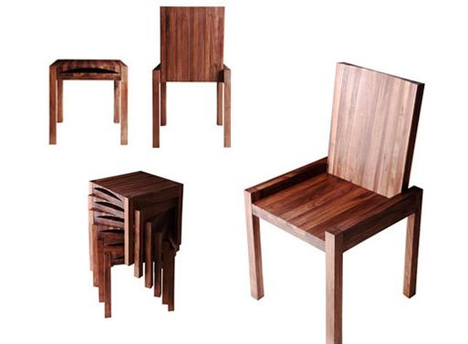 Saw these at ABC Home. Side tables, bench, chair, stool. Black Walnut, perfect