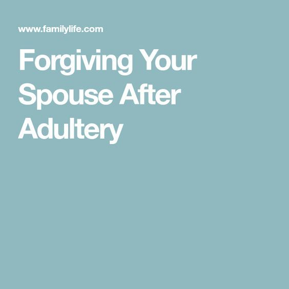 Dealing with adultery marriage infidelity