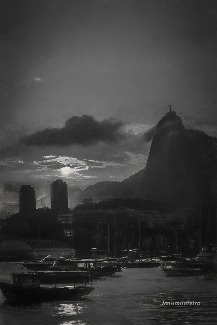Sunset  in black and white... - Urca, Rio de Janeiro, Brazil, South America