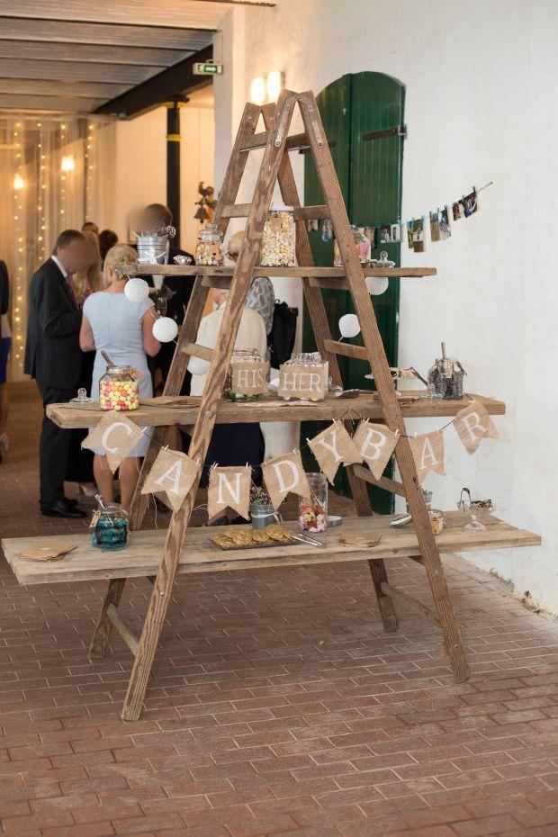Candybar Diy barn wedding # candybar # wedding # diy