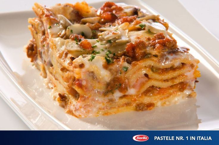 Lasagna cu sos Bolognese si ciuperci - www.foodstory.ro