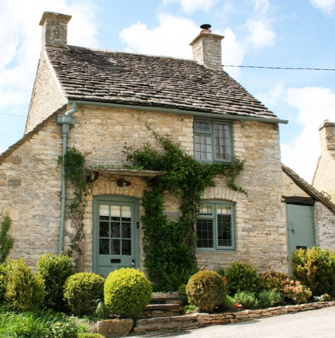 The Best Front Door Colours To Paint Cotswold Stone House (Part 2: The Greens) Farrow and Ball Castle Gray