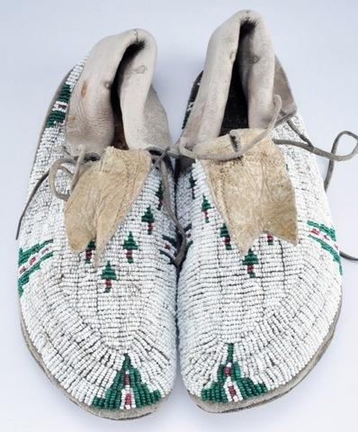 Cheyenne beaded mocassins