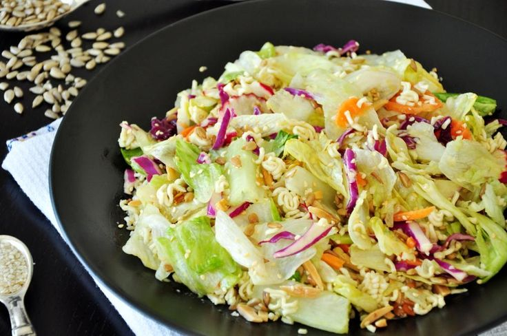ramen noodle salad  recipe  sunflower seeds i love and