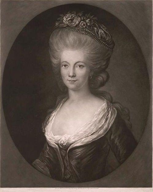 Engraving of Princesse de Lamballe