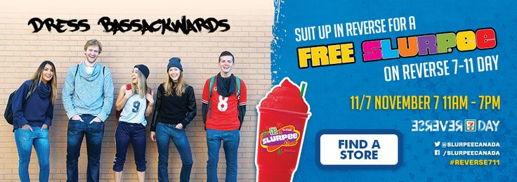 7-Eleven Canada Promotions: FREE Slurpee on Reverse 7-11 Day Today! http://www.lavahotdeals.com/ca/cheap/7-eleven-canada-promotions-free-slurpee-reverse-7/135086