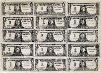 Andy Warhol, Fifteen One Dollar Bills, 1962 – #And…