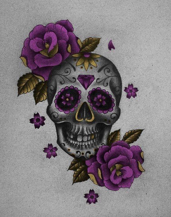 красивые картинки с черепом и цветы ламинация поверх