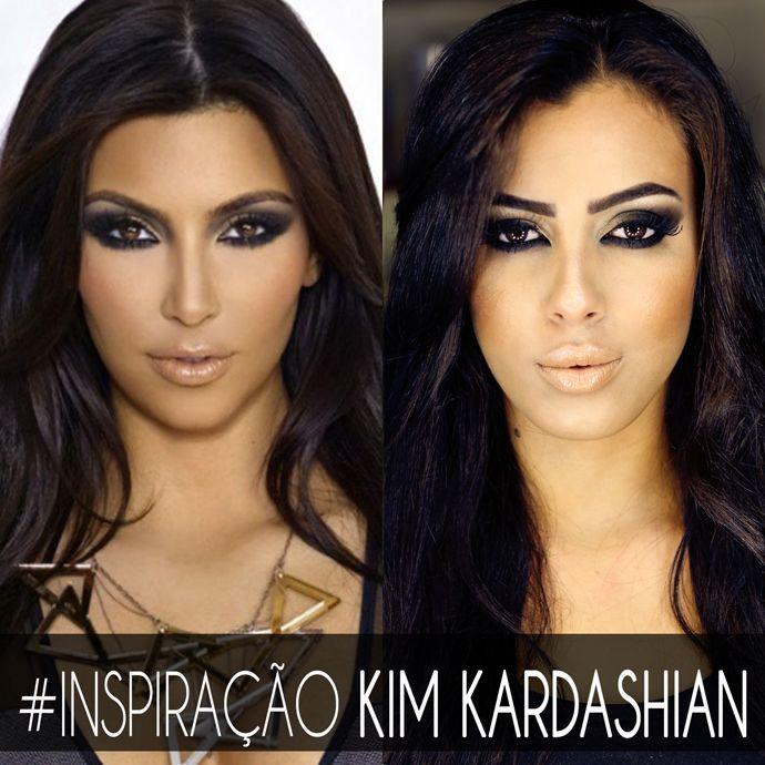 Tutorial de maquiagem inspirado em Kim Kardashian