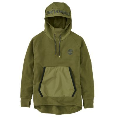 Timberland Men's Sport Leisure Oversized Hoodie Olive Green