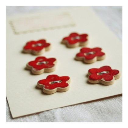guziki ceramiczne // ceramic buttons // czerwone (proj. Karolina Gletkier)