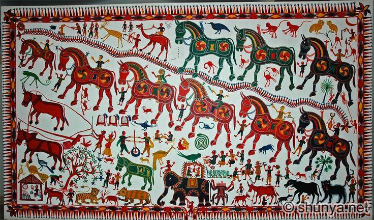 Pithora painting Museum Of Man (Manav Rashtriya Sanghrahalaya) http://www.shunya.net