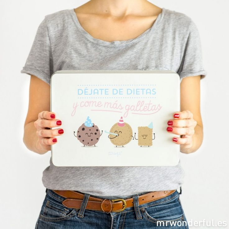 Caja metálica wonder - Déjate de dietas y come más galletas #mrwonderful #cookiebox #cookies #box