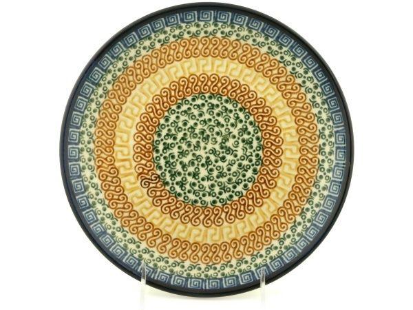 Polish Pottery 10-inch Plate | Boleslawiec Stoneware | Polmedia H4535A