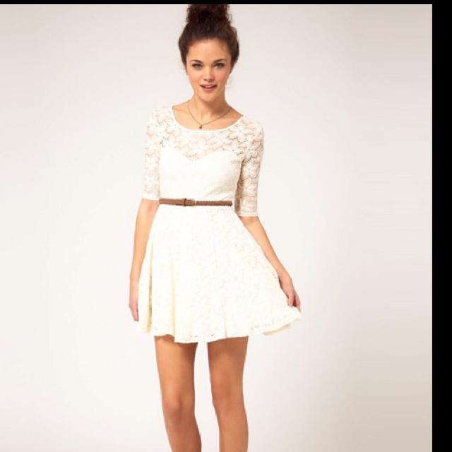 So pretty: Fashion, Style, Bridesmaid Dresses, Engagement Party Dresses, Dream Closet, Outfit, White Lace Dresses, Dinner Dresses, Belt