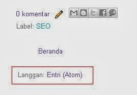 Menghilangkan Link Langganan Entry Atom Blogger (Blogspot)