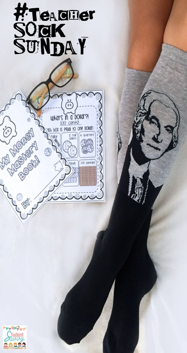 Happy Teacher Sock Sunday! Money activities - money mastery booklet, great for first and second grade