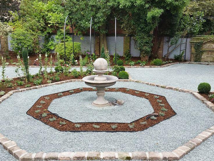 Garden Design & Planting #gardendesign #plantingdesign #gardenfeatures #reclaimedstone #gardenarches #waterfeature #pathedging #fountain #shrubs #perennials #boxballs #roses #lavender #englishgarden #victoriangarden #gardendesigncheshire #plantingdesigncheshire