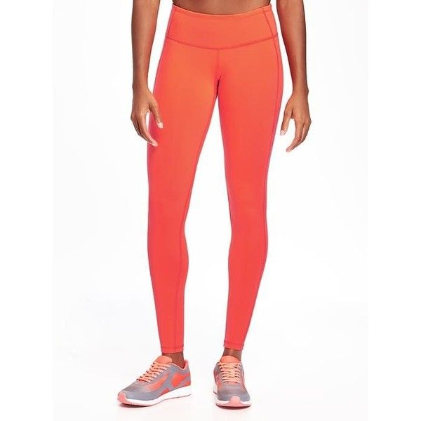Old Navy Womens Go Dry Compression Leggings ($27) ❤ liked on Polyvore featuring activewear, activewear pants, petite, red it neon polyester, athletic sportswear, logo sportswear, petite activewear pants, petite activewear and old navy
