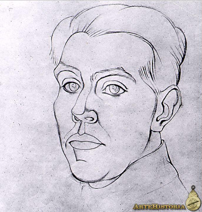 Juan Gris. Autorretrato. 1915 h. Colección Particular