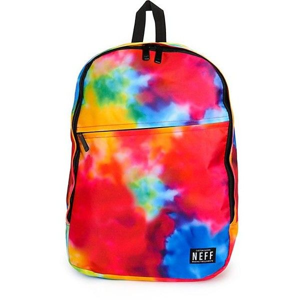 Neff Daily Tie Dye 23L Backpack ($32) ❤ liked on Polyvore featuring bags, backpacks, polyester backpack, neff, rucksack bag, tie dye bag and tie dye backpack