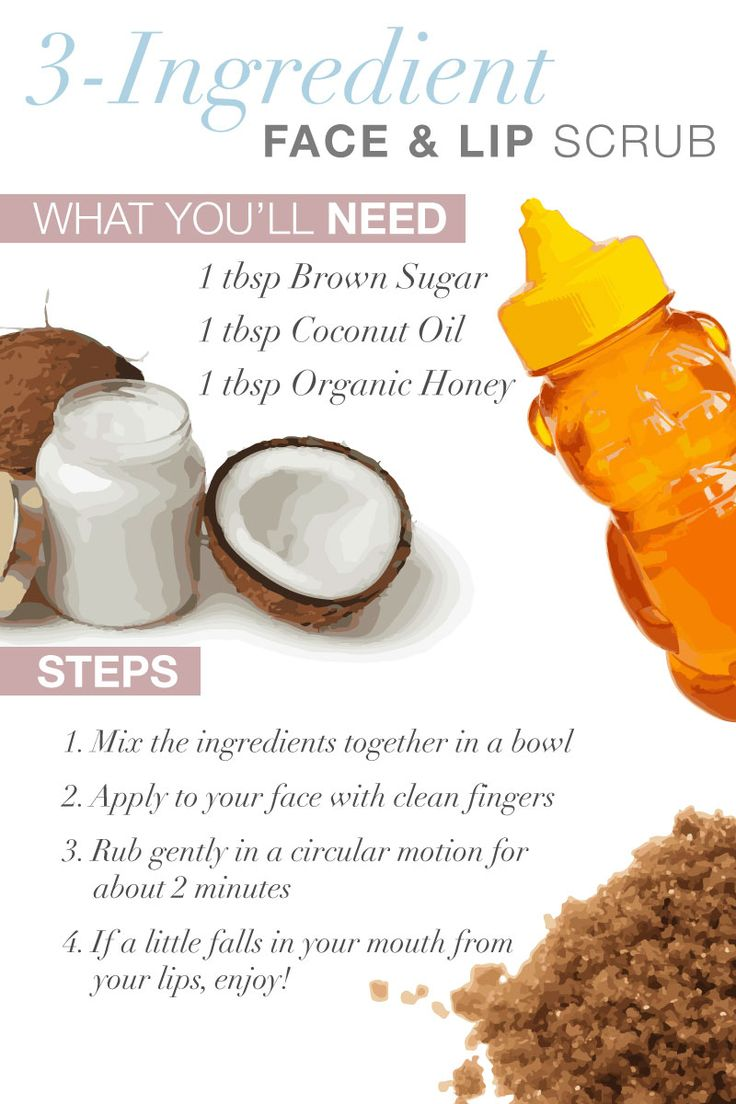 Simple And Amazing 3 Step Face And Lip Scrub! Makes Your Skin Soon Soft!