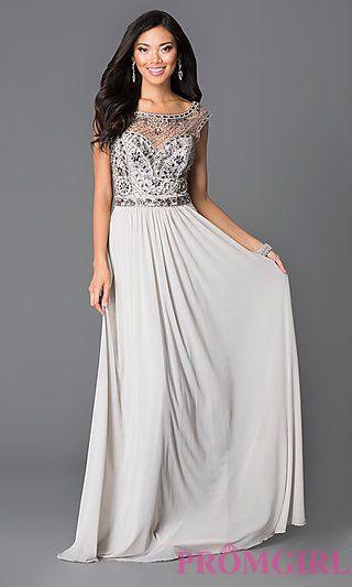 Sheer back lace jvn by jovani dress