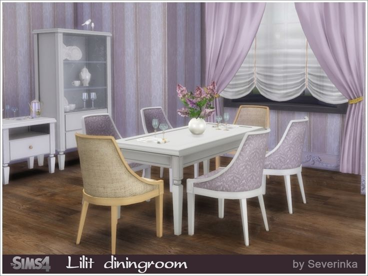 A Set Of Furniture And Decor For The Dining Room In Classic Style Found TSR Category Sims 4 Sets