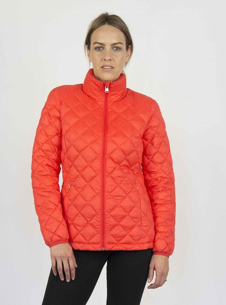 Moke Quilted Packable Jacket - Coral – Sally Anne