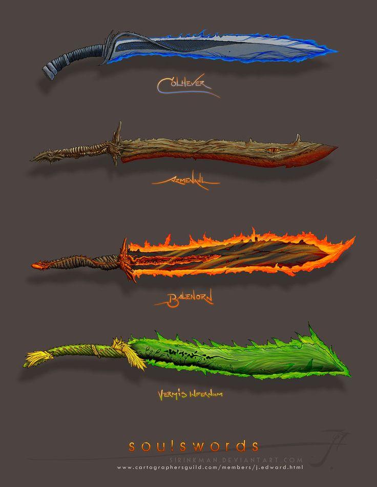 Soulswords [color] by SirInkman on DeviantArt